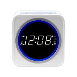 Nelsonic FM Clock Radio, White