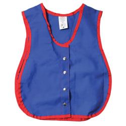 """Children's Factory Manual Dexterity Snap Vest, 13-1/2"""" x 17-1/2"""", Red/Blue, Pre-K To Kindergarten"""
