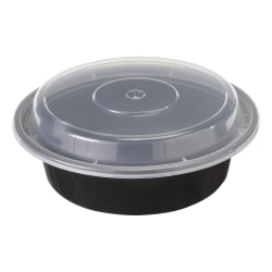 Pactiv VERSAtainer® Containers, 0.5 Qt, Black/Clear, Pack Of 150 Containers
