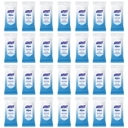 Purell® Hand Sanitizing Wipes, Clean Scent, 20 Wipes Per Flow Pack, Case Of 28 Flow Packs