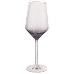 Amscan Ombre Plastic Wine Glasses, 13 Oz, Gray, Pack Of 2 Glasses