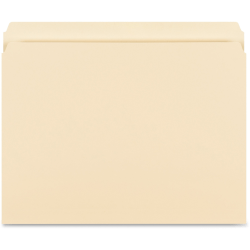 "Business Source Straight-Cut 1-ply Tab Heavyweight File Folders - Letter - 8 1/2"" x 11"" Sheet Size - Straight Tab Cut - 14 pt. Folder Thickness - Manila - Recycled - 50 / Box"