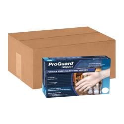 ProGuard Vinyl Powder-Free General Purpose Gloves, Medium, Clear, 100 Per Box, Case Of 10 Boxes