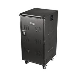 "HamiltonBuhl® 30-Bay 2-Shelf Steel Charging/Storage Cart For Tablet, Apple® iPad® And Chromebook, 38""H x 20""W x 22""D, Black"