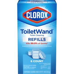 Clorox Disinfecting ToiletWand Refills, Pack Of 6 Refills