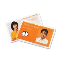 GBC® HeatSeal® UltraClear™ Thermal Laminating Pouches, Badge/ID Card Size, Pack Of 25