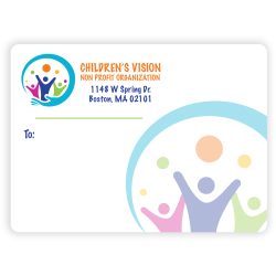 """Custom Full-Color Rectangle Advertising Labels, 2-15/16"""" x 4"""", Roll Of 125 Labels"""