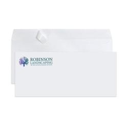 """Custom #10, Full-Color, Peel & Seal, Standard Business Envelopes, 4-1/8"""" x 9-1/2"""", White Wove, Box Of 250"""