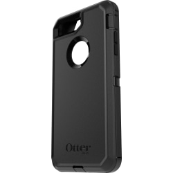OtterBox Defender Carrying Case (Holster) Apple iPhone 7 Plus, iPhone 8 Plus Smartphone - Black - Belt Clip