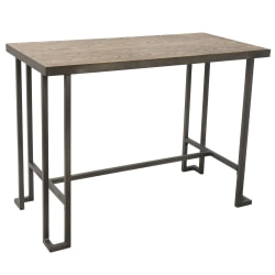 Lumisource Roman Industrial Counter Table, Rectangular, Brown/Antique