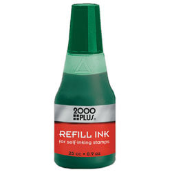 2000 PLUS® Self-Inking Stamp Re-Ink Fluid, 1 Oz., Green
