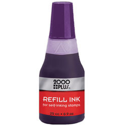 2000 PLUS® Self-Inking Stamp Re-Ink Fluid, 1 Oz., Violet
