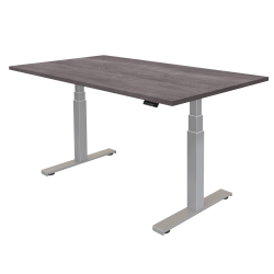 """Fellowes® Cambio Height-Adjustable Desk, 60""""W, Gray Ash"""