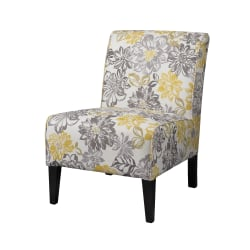 Linon Shelby Chair, Floral/Black
