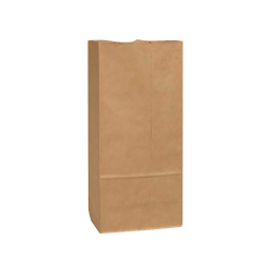 """General Paper Bags, 25#, 15 7/8"""" x 8 1/4"""" x 6"""", 40 Lb Base Weight, 40% Recycled, Brown Kraft, Bundle Of 500"""