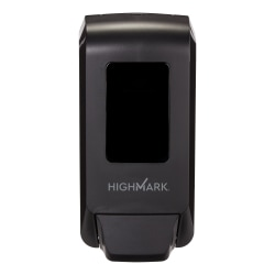 Highmark® Manual Soap & Sanitizer Dispenser, Black