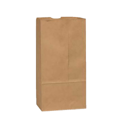 """General Paper Bags, 12#, 13 3/4"""" x 7 1/16"""" x 4 1/2"""", 40 Lb Base Weight, 40% Recycled, Brown Kraft, Bundle Of 500"""