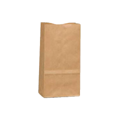 """General Paper Bags, 2#, 7 7/8"""" x 4 5/16"""" x 2 7/16"""", 30 Lb Base Weight, 40% Recycled, Brown Kraft, Bundle Of 500"""