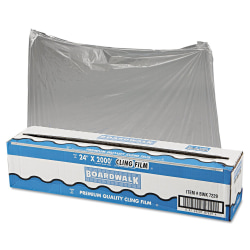 "Boardwalk PVC Food Wrap Film Roll, 24"" x 2,000', Clear"