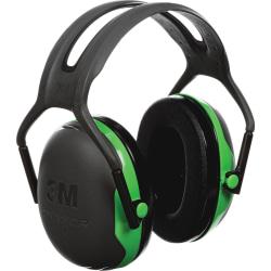 Peltor Over-the-Head Earmuffs, Black/Green