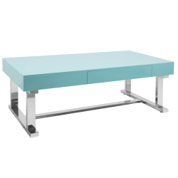 Lumisource Luster Coffee Table, Rectangular, Light Blue