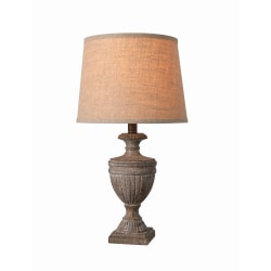 "Kenroy Home Harrietta Accent Lamp, 23""H, Weathered Wood"