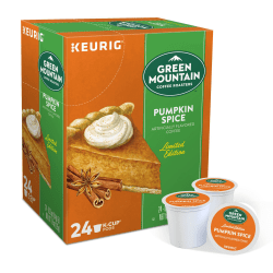 Green Mountain Coffee® Pumpkin Spice Coffee Single-Serve K-Cup®, 3 Oz, Carton Of 24