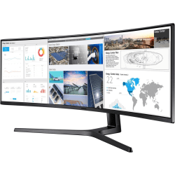 "Samsung C49J89 49"" Double Full HD (DFHD) Curved Screen LED LCD Monitor - 32:9 - Charcoal Black Hairline, Titanium - Vertical Alignment (VA) - 3840 x 1080 - 16.7 Million Colors - 300 Nit Typical, 250 Nit Minimum - 5 ms"
