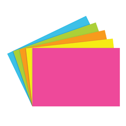 """Top Notch Teacher Products® Brite Blank Index Cards, 4"""" x 6"""", Assorted Colors, 100 Cards Per Pack, Case Of 6 Packs"""