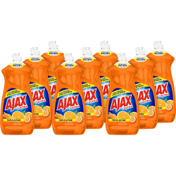 AJAX Ultra Triple Action Liquid Dish Soap - Liquid - 0.22 gal (28 fl oz) - Citrus Scent - 9 / Carton - Orange