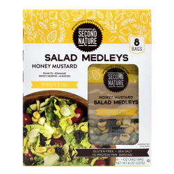 Second Nature Honey Mustard Protein Salad Medleys, 1 Oz, Pack Of 8 Medleys