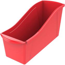 "Storex Book Bin Set - 7"" Height x 5.3"" Width14.3"" Length - Red - Plastic"