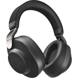 Jabra Elite 85h Wireless Noise-Cancelling Headphones - Stereo - Mini-phone - Wired/Wireless - Bluetooth - 32.8 ft - 10 Hz - 20 kHz - Over-the-head - Binaural - Circumaural - 3.94 ft Cable - Noise Canceling - Titanium Black