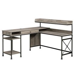 Sauder® Canal Street L-Shaped Computer Desk, Northern Oak