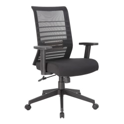 Boss Office Products Horizontal Mesh-Back Task Chair, Black/Gray
