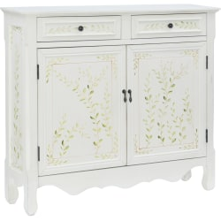 """Powell Balfour 2-Door Console Table, 41""""H x 36""""W x 11""""D, White"""