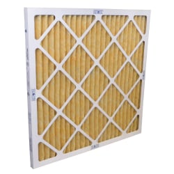 "Tri-Dim Pro HVAC Pleated Air Filters, Merv 11, 20"" x 24"" x 1"", Case Of 12"