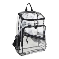 Eastport PVC Deluxe Top-Loader Backpack, Clear/Black