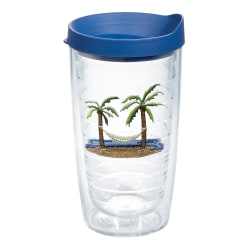 Tervis Palm And Hammock Tumbler With Lid, 16 Oz, Clear