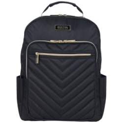 Kenneth Cole Reaction Chevron Quilted Laptop Backpack, Black