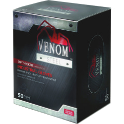 Medline Venom Disposable Premium Nitrile Gloves, Box Of 50