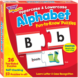 Trend Upper/Lowercase Alphabet Puzzle Set - 3+52 Piece