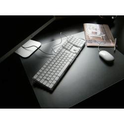 "Floortex Desktex PVC Smooth-Back Desk Mat, 20"" x 36"", Clear"