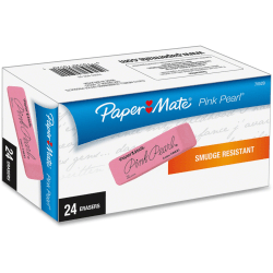 Paper Mate® Pink Pearl Erasers, Medium, Box Of 24