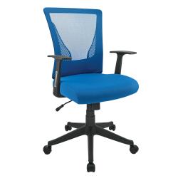 Brenton Studio® Radley Mesh Mid-Back Task Chair, Blue/Black