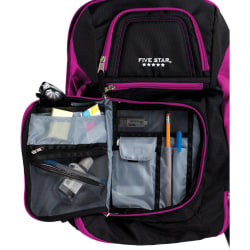 """Mead Carrying Case (Backpack) for 17"""" Notebook - Purple, Black - Shoulder Strap - 19"""" Height x 13"""" Width"""