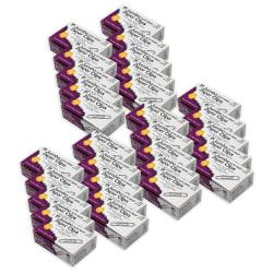 "Charles Leonard Gem Paper Clips, Jumbo Nonskid, 2"", 10-Sheet Capacity, Silver, 100 Paper Clips Per Box, Pack Of 30 Boxes"