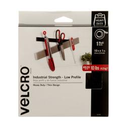 "VELCRO® Brand ULTRA-MATE® Tape, 1"" x 120"" Roll, Black"
