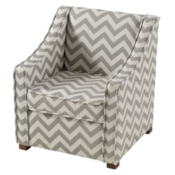 Linon Maggie Youth Accent Chair, Gray/White