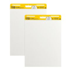 """Post-it® Super Sticky Easel Pads, 25"""" x 30"""", White, Pack Of 2 Pads"""